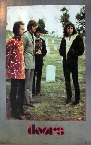 DOORS-- THE - RARE! - 'Cemetary' Band Photo Poster - 1