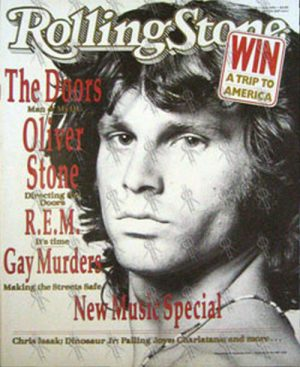 DOORS-- THE - 'Rolling Stone' - June 1991 - Jim Morrison On Cover - 1