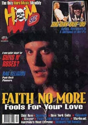 FAITH NO MORE - 'Hot Metal' - Issue 73 - March 1995 - Mike Patton On Cover - 1