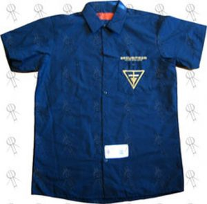 FEAR FACTORY - Blue 'Securitron' Design Dickies Workshirt - 1