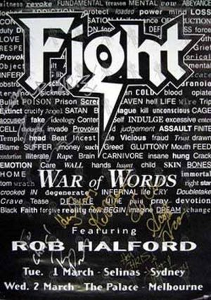 FIGHT - 'War Of Words' Album/Tour Poster - 1