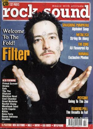 FILTER - 'Rock Sound' - March 2000 - Issue 10 - Richard Patrick On Cover - 1