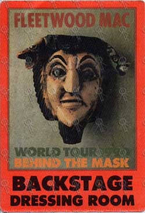 FLEETWOOD MAC - 'Behind The Mask' 1990 World Tour Backstage Dressing Room Pass - 1