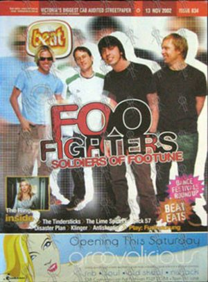 FOO FIGHTERS - 'Beat' Magazine - 13th November 2002 - Foo Fighters On Cover - 1