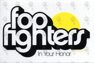 FOO FIGHTERS - Clear 'In Your Honor' Sticker - 1