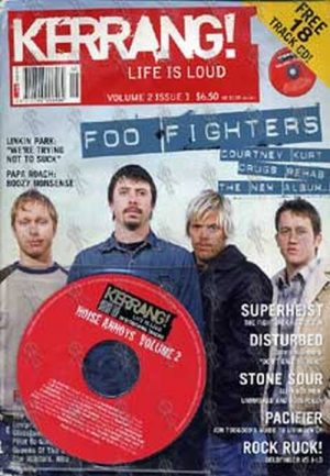 FOO FIGHTERS - 'Kerrang!' - Volume 2 Issue 1 - Foo Fighters On The Cover - 1