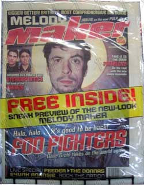 FOO FIGHTERS - 'Melody Maker' - October 23rd 1999 - Dave Grohl On Cover - 1