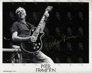 FRAMPTON-- PETER - Black And White Autographed 8 - 1