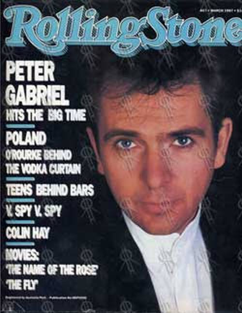 GABRIEL-- PETER - 'Rolling Stone' - March 1987 - Peter Gabriel On Cover - 1