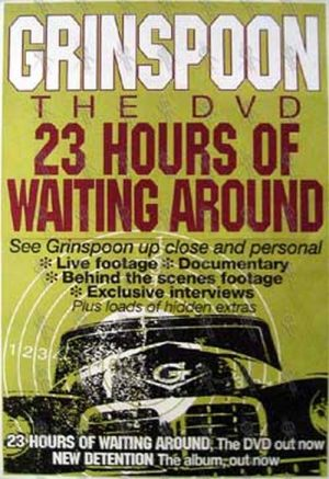 GRINSPOON - '23 Hours Of Waiting Around' DVD Poster - 1