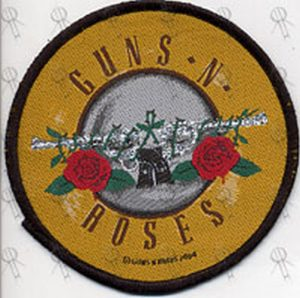 GUNS N ROSES - Circle Embroidered Sew-On Patch - 1