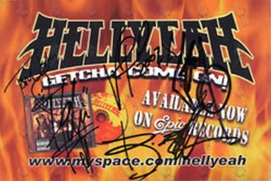 HELLYEAH - Full Signed Album Promo Postcard - 1