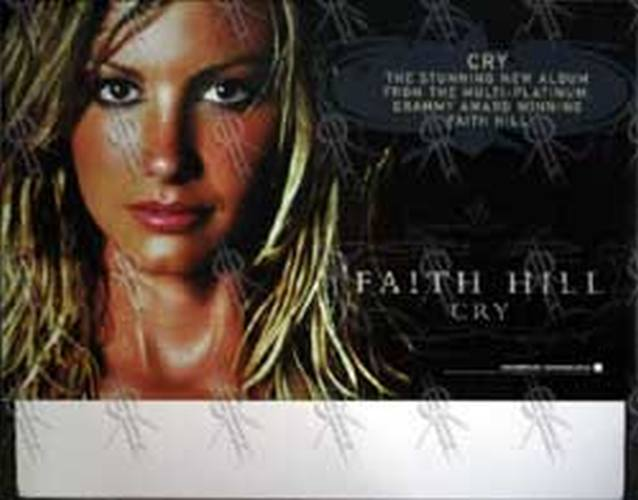 HILL-- FAITH - 'Cry' Record Store Display Back Stand - 1