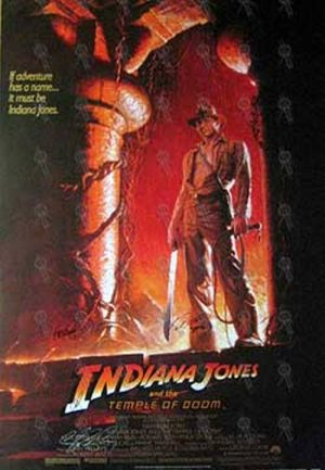 INDIANA JONES AND THE TEMPLE OF DOOM - 'Indiana Jones And The Temple Of Doom' Movie Poster - 1
