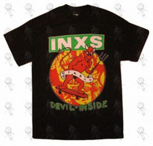 INXS - Black 'Devil Inside' Design T-Shirt - 1