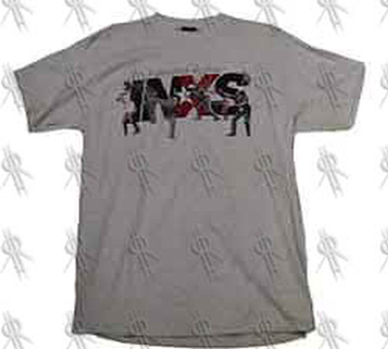 INXS - 'Elegantly Wasted' Grey-Marle T-Shirt - 1