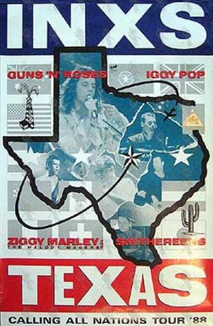 INXS - 'Texas: Calling All Nations Tour 88' Poster - 1