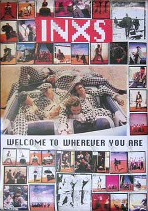 INXS - 'Welcome To Wherever You Are' Poster - 2