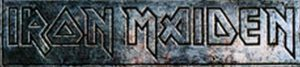 IRON MAIDEN - Engraved Logo Design Sticker - 1