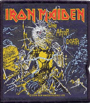 IRON MAIDEN - 'Live After Death' Album Sew-On Patch - 1