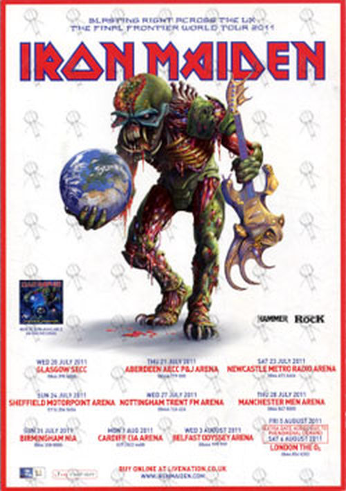 IRON MAIDEN - The Final Frontier Signed UK Tour Flyer - 2