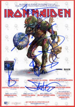 IRON MAIDEN - The Final Frontier Signed UK Tour Flyer - 1