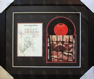 JAM-- THE - Custom Framed 'Town Called Malice' Signed Sheet Music And Single - 1