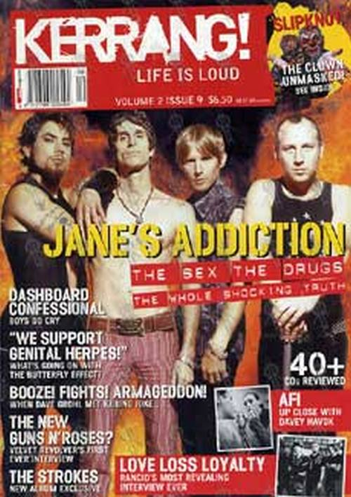 JANE'S ADDICTION - 'Kerrang!' - Volume 2 Issue 9 - Janes Addiction On The Cover - 1