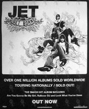 JET - 'Get Born' Album/National Tour Poster - 1