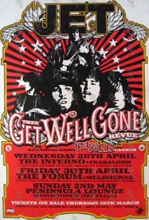 JET - 'Thee Get Well Gone Revue' 2004 Tour Poster - 1