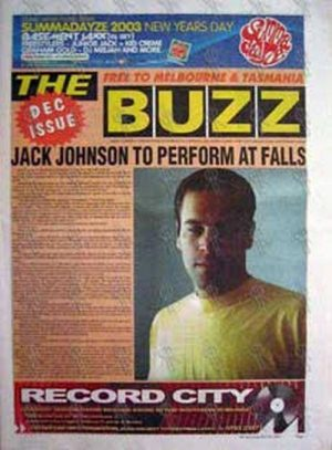 JOHNSON-- JACK - 'The Buzz' - Vol 10 Number 4 Dec 2002 - Jack On The Cover - 1