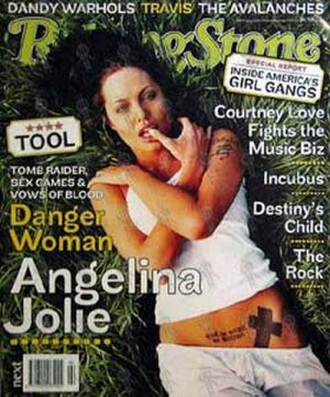 JOLIE-- ANGELINA - 'Rolling Stone' - Issue 590 Aug 2001 - Angelina On The Cover - 1