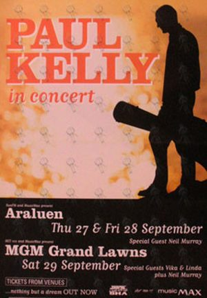 KELLY-- PAUL - 'In Concert' Poster - 1