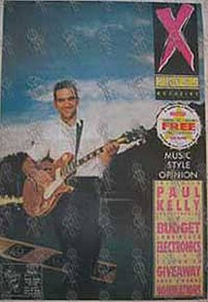 KELLY-- PAUL - 'XPress' - No.132 24 August 1989 - Paul Kelly On Cover - 1