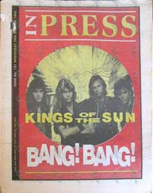 KINGS OF THE SUN - 'Inpress' - 24th October 1990 - Kings Of The Sun On Cover - 1