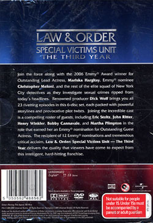 LAW & ORDER - The Third Year - 2