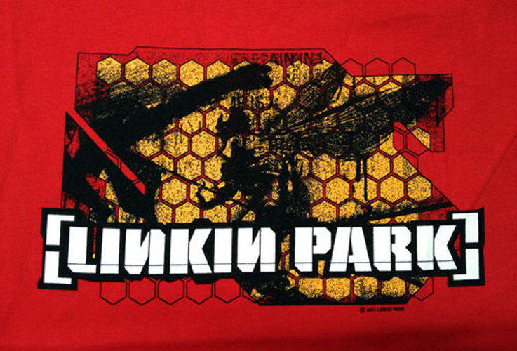 LINKIN PARK - Honeycomb Soldier Red T-Shirt - 2