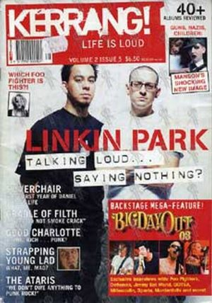 LINKIN PARK - 'Kerrang!' - Volume 2 Issue 5 - Linkin Park On The Cover - 1