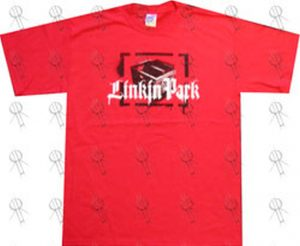 LINKIN PARK - Red 'Crate Of Records' Logo T-Shirt - 1