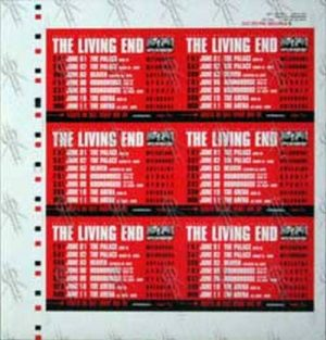 LIVING END-- THE - 'Carry Me Home' Tour Promo Stickers Artist Proof - 1