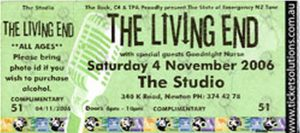 LIVING END-- THE - The Studio