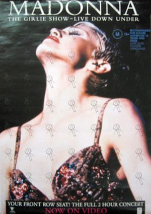 MADONNA - 'The Girlie Show: Live Down Under' Video Release Promo Poster - 1