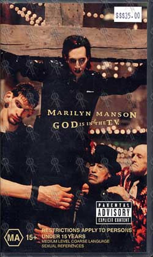 MANSON-- MARILYN - God Is In The TV - Rare Deleted VHS - Not On DVD - 1