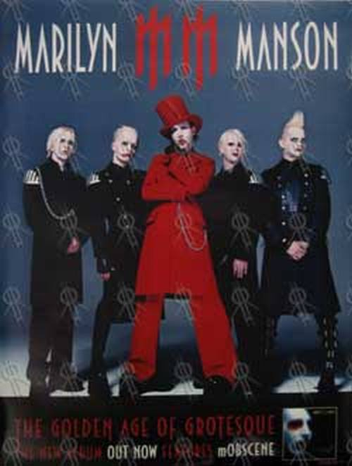 MANSON-- MARILYN - 'Golden Age Of Grotesque' Album Double-Sided Poster - 1