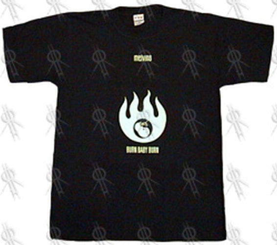 MELVINS - Black 'Burning Foetus' Design Glow In The Dark T-Shirt - 1