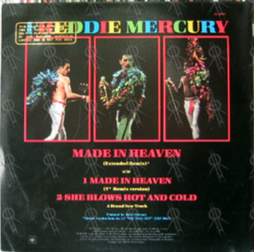 MERCURY-- FREDDIE - Made In Heaven (Extended Remix) - 2