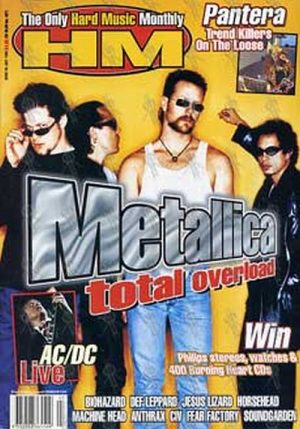METALLICA - 'Hot Metal' - Issue 88 - July 1996 - Metallica On Cover - 1