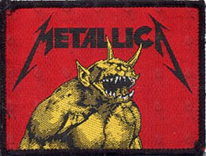 METALLICA - 'Jump In The Fire' Design Sew-On Patch - 1