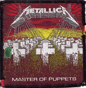 METALLICA - 'Master Of Puppets' Design Sew-On Patch - 1