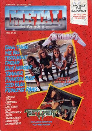 METALLICA - 'Metal Forces' - July 1989 - Metallica On Cover - 1
